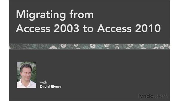 Goodbye: Migrating from Access 2003 to Access 2010