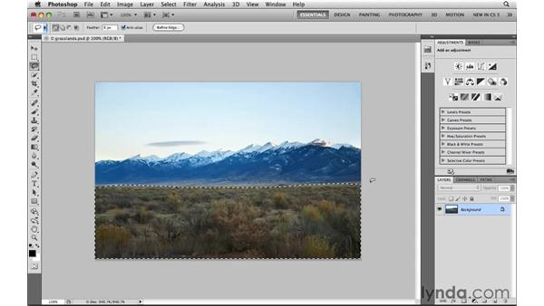 Correcting part of a photograph: Photoshop CS5: Selections in Depth