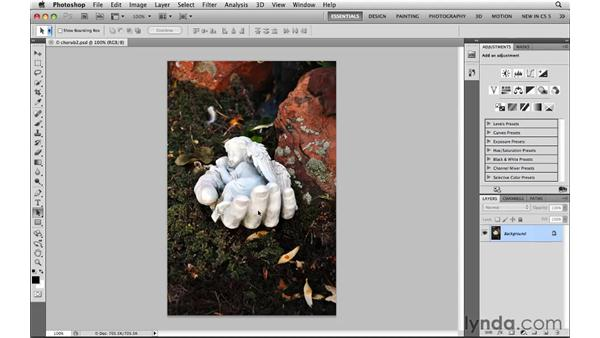 Cropping an image: Photoshop CS5: Selections in Depth