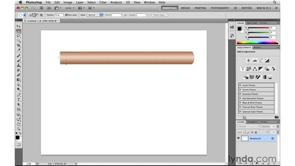 Building an object: Photoshop CS5: Selections in Depth