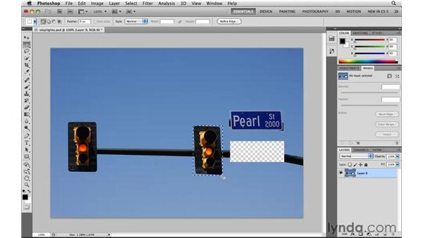 Moving selection boundaries: Photoshop CS5: Selections in Depth