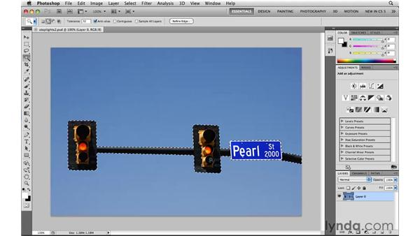 Inverting selections: Photoshop CS5: Selections in Depth