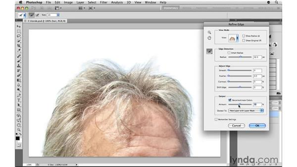 Removing color fringe: Photoshop CS5: Selections in Depth