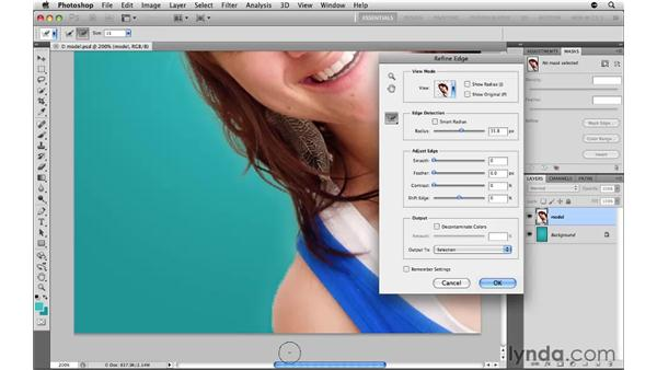 Selecting an object with hard and soft edges: Photoshop CS5: Selections in Depth