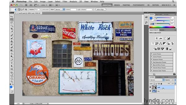Selecting rectangles with the Rectangular Marquee tool: Photoshop CS5: Selections in Depth