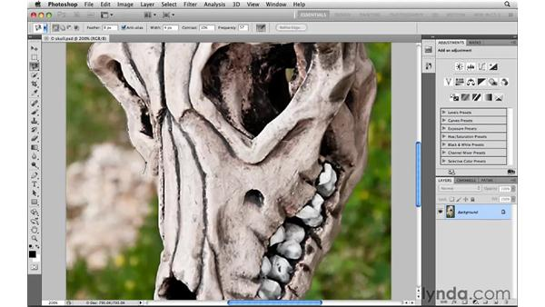 Snapping to edges with the Magnetic Lasso tool: Photoshop CS5: Selections in Depth