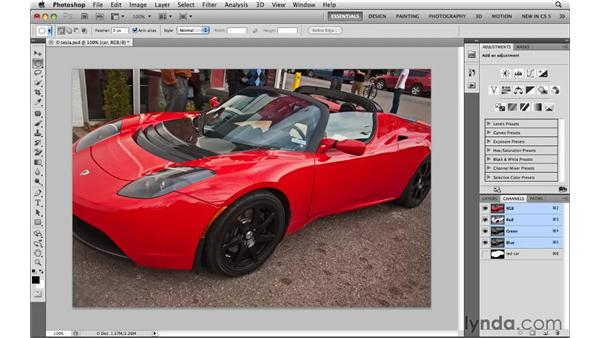 Saving selections for reuse: Photoshop CS5: Selections in Depth