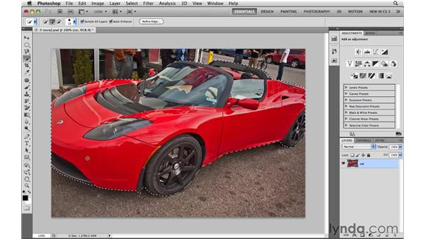 Loading and modifying saved selections: Photoshop CS5: Selections in Depth