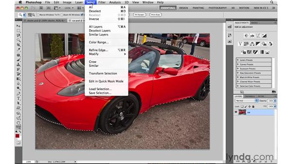 Sharing selections between images: Photoshop CS5: Selections in Depth