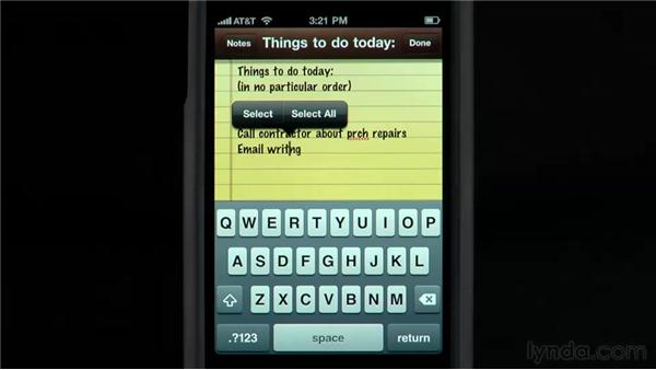 Fixing typos and trusting auto-correction: iPhone and iPod touch iOS 4 Essential Training
