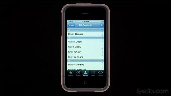 Basic phone activities: iPhone and iPod touch iOS 4 Essential Training