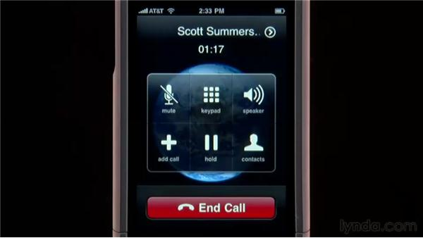 Making conference calls: iPhone and iPod touch iOS 4 Essential Training
