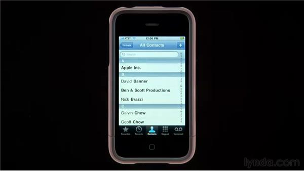 Adding recent calls to your contacts: iPhone and iPod touch iOS 4 Essential Training