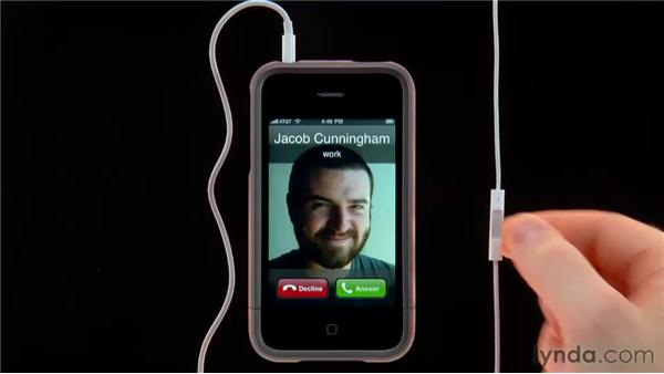 Using the included headset : iPhone and iPod touch iOS 4 Essential Training