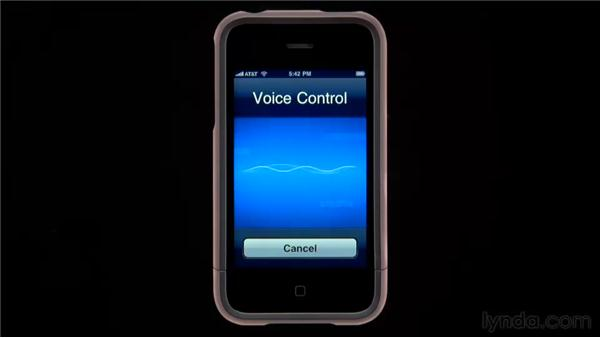 Voice dialing: iPhone and iPod touch iOS 4 Essential Training
