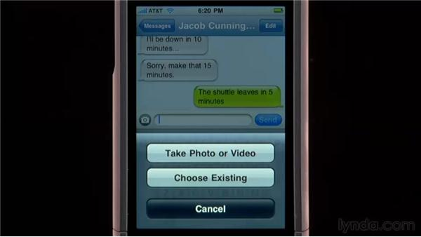 Sending, receiving, and managing text and MMS messages: iPhone and iPod touch iOS 4 Essential Training