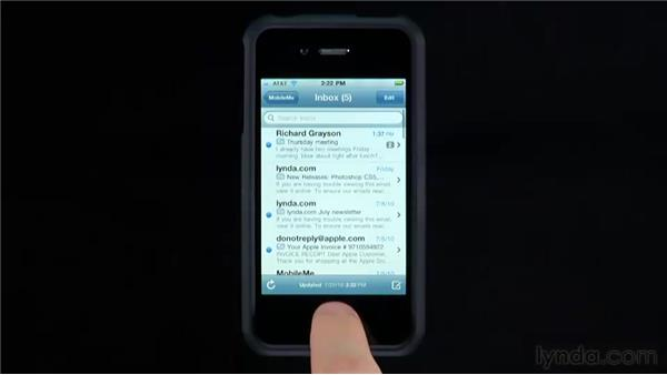 Setting mail options: iPhone and iPod touch iOS 4 Essential Training