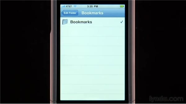 Saving bookmarks and viewing the History list: iPhone and iPod touch iOS 4 Essential Training