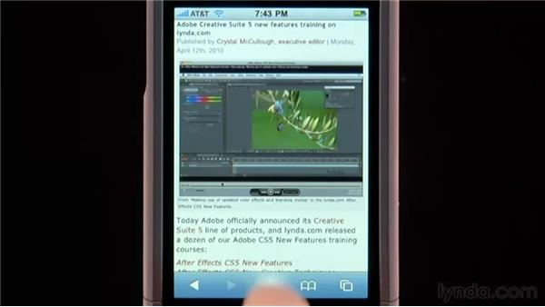 Creating Web Clips: iPhone and iPod touch iOS 4 Essential Training