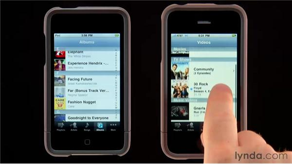 Browsing your library: iPhone and iPod touch iOS 4 Essential Training