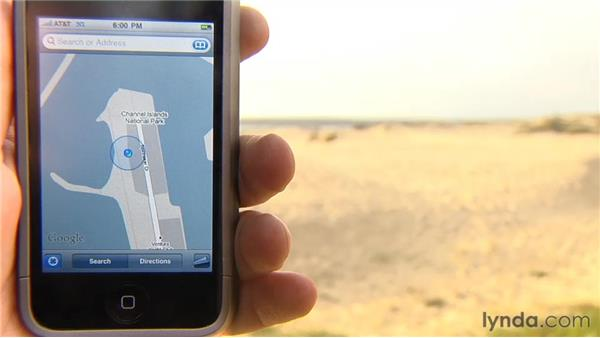 Getting your location with Maps: iPhone and iPod touch iOS 4 Essential Training