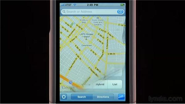 Showing traffic and alternate maps: iPhone and iPod touch iOS 4 Essential Training