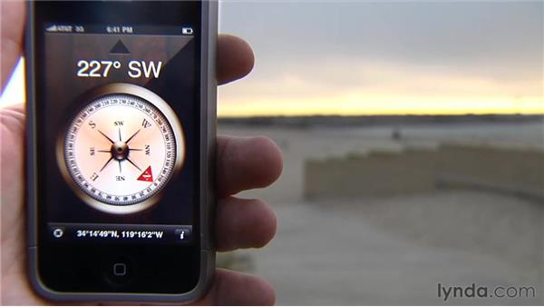 Using the Compass app (iPhone 3GS only): iPhone and iPod touch iOS 4 Essential Training