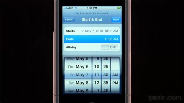 Adding events to your calendar: iPhone and iPod touch iOS 4 Essential Training
