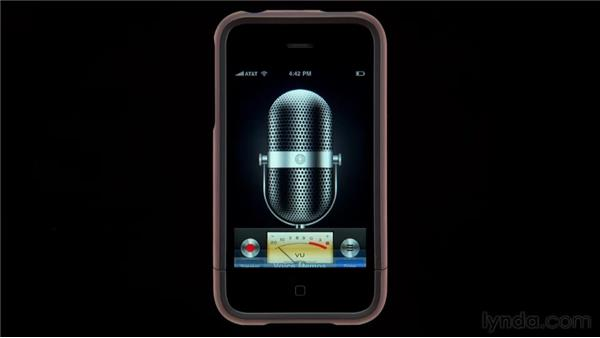 The Voice Memos app: iPhone and iPod touch iOS 4 Essential Training