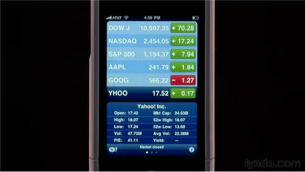 The Stocks app: iPhone and iPod touch iOS 4 Essential Training