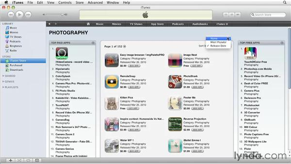 Browsing the App Store from iTunes: iPhone and iPod touch iOS 4 Essential Training