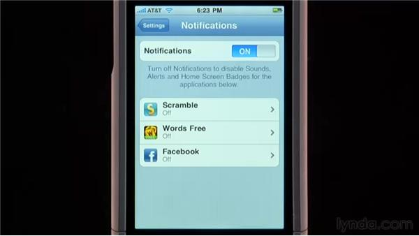 Notifications: iPhone and iPod touch iOS 4 Essential Training