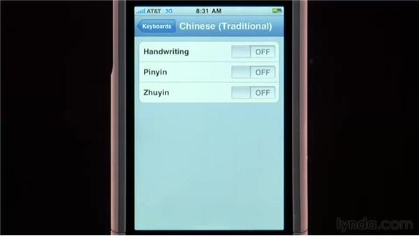 International settings: iPhone and iPod touch iOS 4 Essential Training