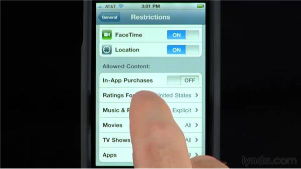 Restrictions: iPhone and iPod touch iOS 4 Essential Training