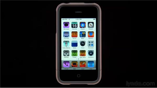 Setting the display to White On Black : iPhone and iPod touch iOS 4 Essential Training