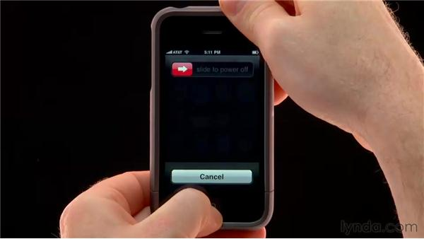 Rebooting the iPhone or iPod Touch: iPhone and iPod touch iOS 4 Essential Training
