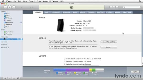Checking for updates: iPhone and iPod touch iOS 4 Essential Training