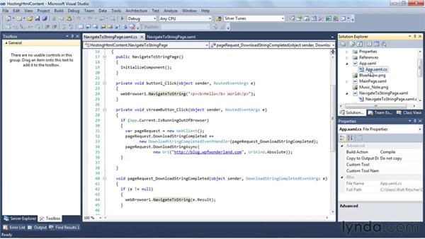 Hosting HTML content in Silverlight applications: Silverlight 4 New Features
