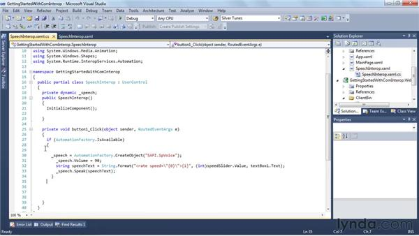 Getting started with COM Interop using the speech API: Silverlight 4 New Features