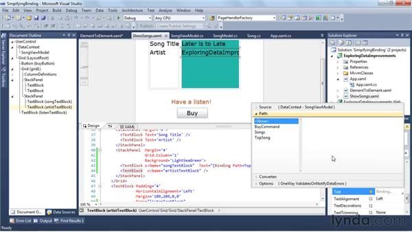 Simplifying binding with the property marker: Silverlight 4 New Features