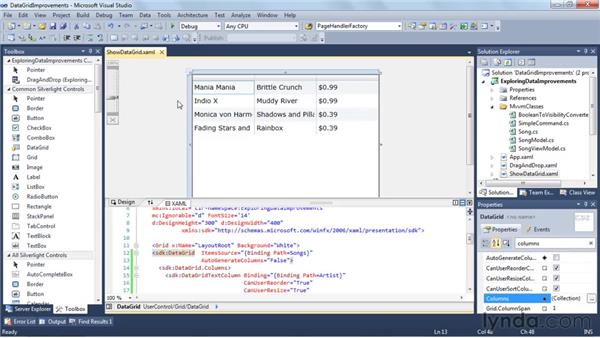 DataGrid and Visual Studio binding improvements: Silverlight 4 New Features