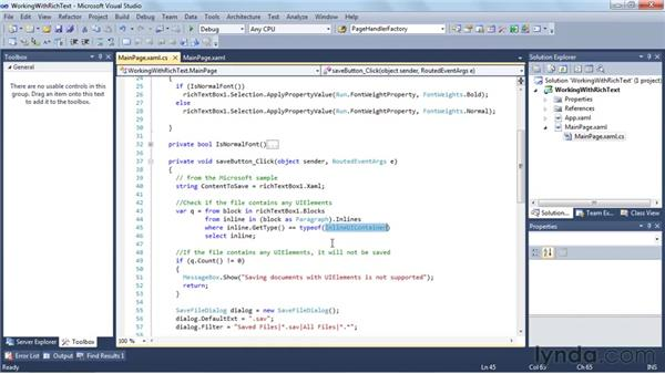Working with rich text: Silverlight 4 New Features