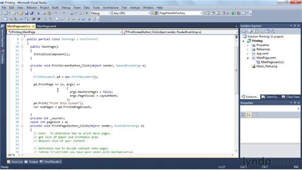 Creating print output: Silverlight 4 New Features