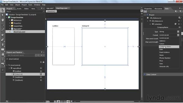 Working with design-time data: Silverlight 4 New Features