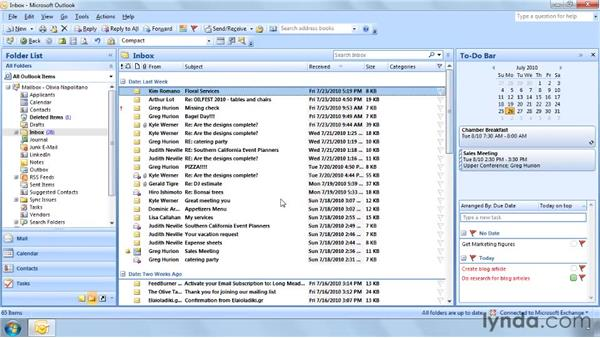 Viewing messages by conversation: Outlook 2007: Effective Email Management