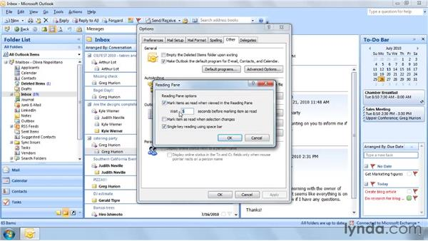 Marking messages: Outlook 2007: Effective Email Management