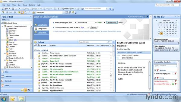 Organizing with colors: Outlook 2007: Effective Email Management