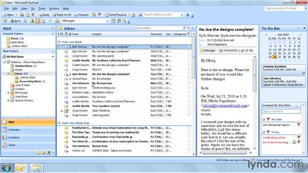 Adding a folder to the Favorites list: Outlook 2007: Effective Email Management