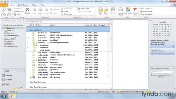 Using Ignore and Mailbox Cleanup: Outlook 2010: Effective Email Management