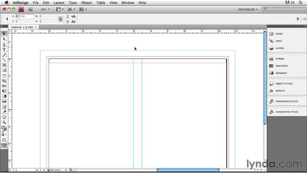 Setting up a document in InDesign CS4: Designing a Book Cover